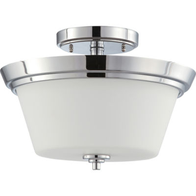 Filament Design 2-Light Polished Chrome Semi-FlushMount