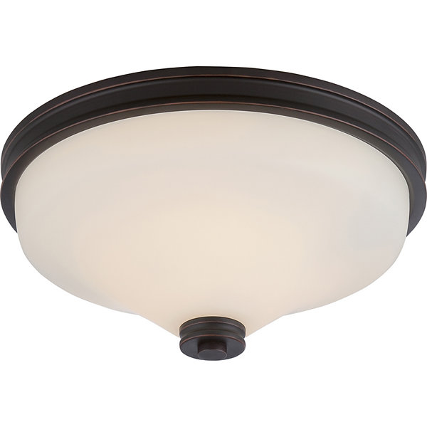 Filament Design 2-Light Mahogany Bronze Flush Mount
