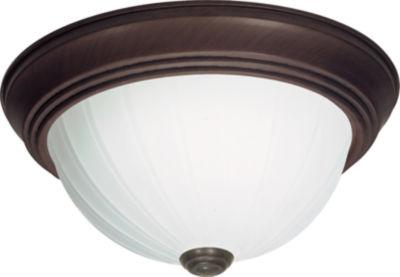 Filament Design 3-Light Textured White Flush Mount
