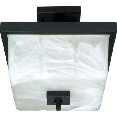 Filament Design 2-Light Textured Black Semi-FlushMount
