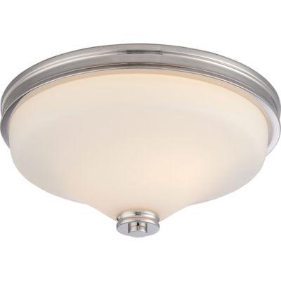 Filament Design 2-Light Polished Nickel Flush Mount