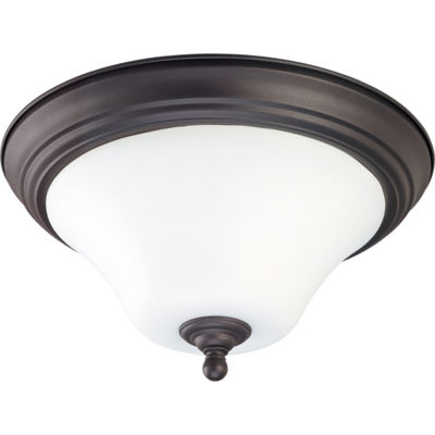 Filament Design 2-Light Dark Chocolate Bronze Flush Mount