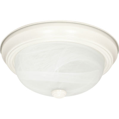 Filament Design 3-Light Textured White Flush Mount