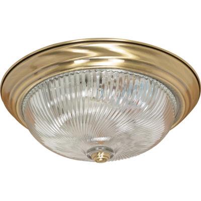 Filament Design 3-Light Antique Brass Flush Mount