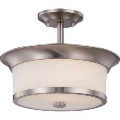 Filament Design 2-Light Brushed Nickel Semi-FlushMount