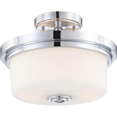 Filament Design 2-Light Polished Chrome Semi-FlushMount