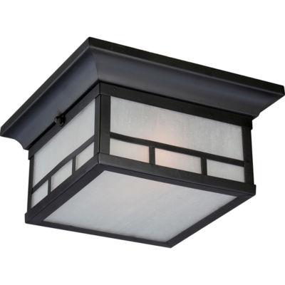 Filament Design 2-Light Stone Black Outdoor FlushMount