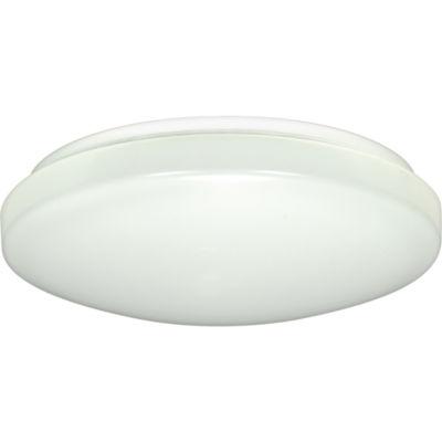 """Filament Design 1-Light 11"""" White Led Flush MountLed"""""""