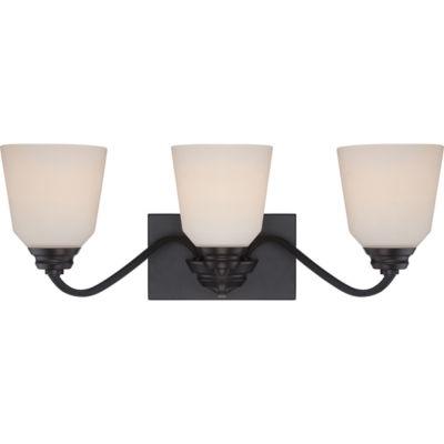 Filament Design 3-Light Mahogany Bronze Bath Vanity
