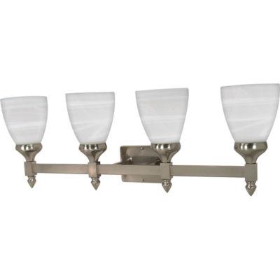 Filament Design 4-Light Brushed Nickel Bath Vanity