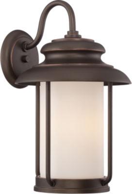 Filament Design 1-Light Mahogany Bronze Outdoor Wall Sconce