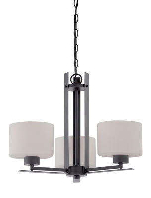 Filament Design 3-Light Aged Bronze Chandelier