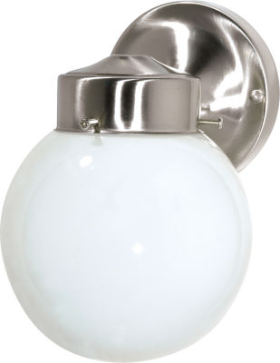 Filament Design 1-Light Brushed Nickel Outdoor Wall Sconce