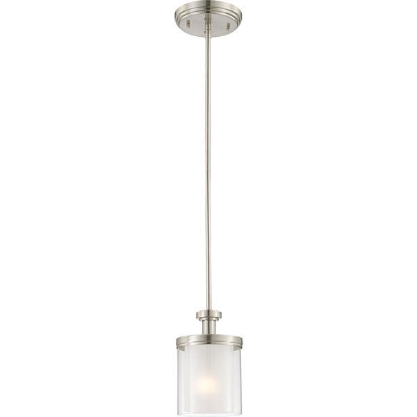 Filament Design 1-Light Brushed Nickel Pendant Mini-Pendant