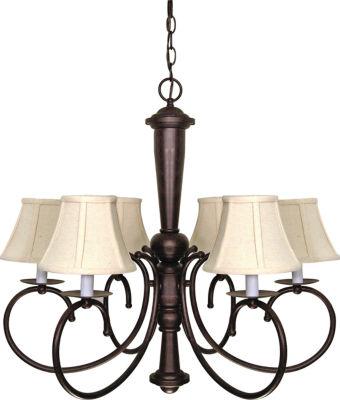 Filament Design 6-Light Old Bronze Chandelier