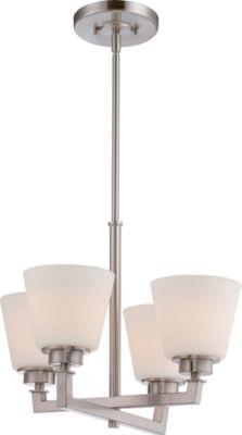 Filament Design 4-Light Brushed Nickel Chandelier