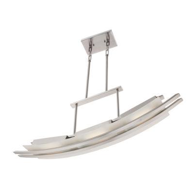 Filament Design 3-Light Brushed Nickel Pendant Island Pendant