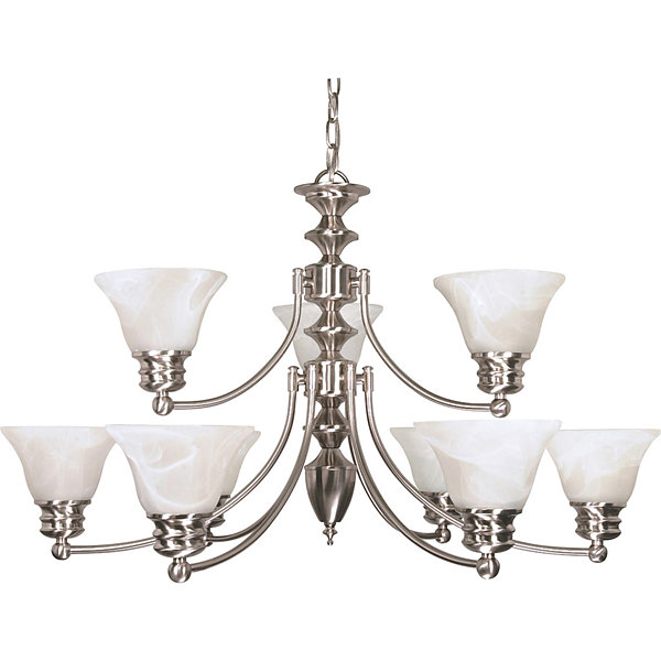Filament Design 9-Light Brushed Nickel Chandelier