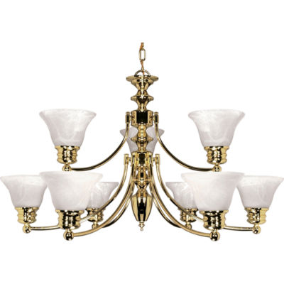 Filament Design 9-Light Polished Brass Chandelier