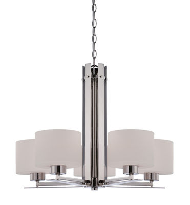 Filament Design 5-Light Polished Nickel Chandelier