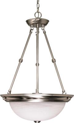 Filament Design 3-Light Brushed Nickel Pendant