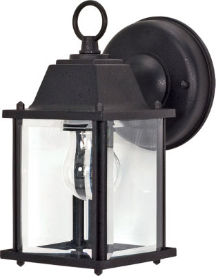 Filament Design 1-Light Textured Black Outdoor Wall Sconce
