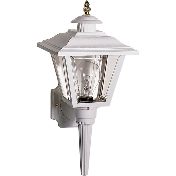 Filament Design 1-Light Black Outdoor Wall Sconce