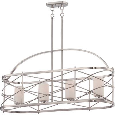 Filament Design 4-Light Brushed Nickel Pendant Island Pendant