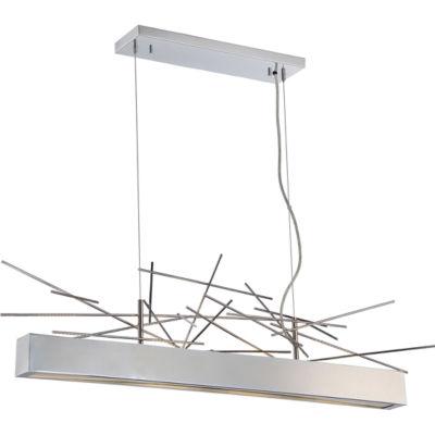 Filament Design 4-Light Polished Nickel Pendant Island Pendant