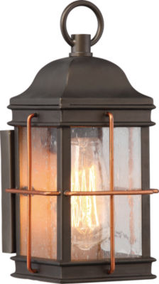 Filament Design 1-Light Bronze With Copper AccentsOutdoor Wall Sconce