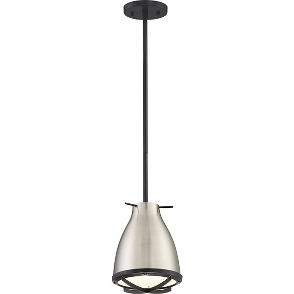 Filament Design 1-Light Brushed Nickel White Accent Pendant
