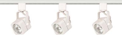 Filament Design 3-Light White Track Lighting TrackKit
