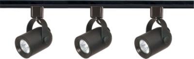 Filament Design 3-Light Black Track Lighting TrackKit