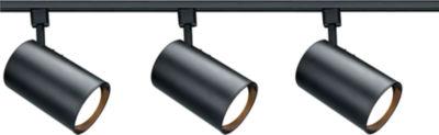 Filament Design 3-Light Black Track Lighting Track Kit
