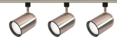 Filament Design 3-Light Brushed Nickel Track Lighting Track Kit