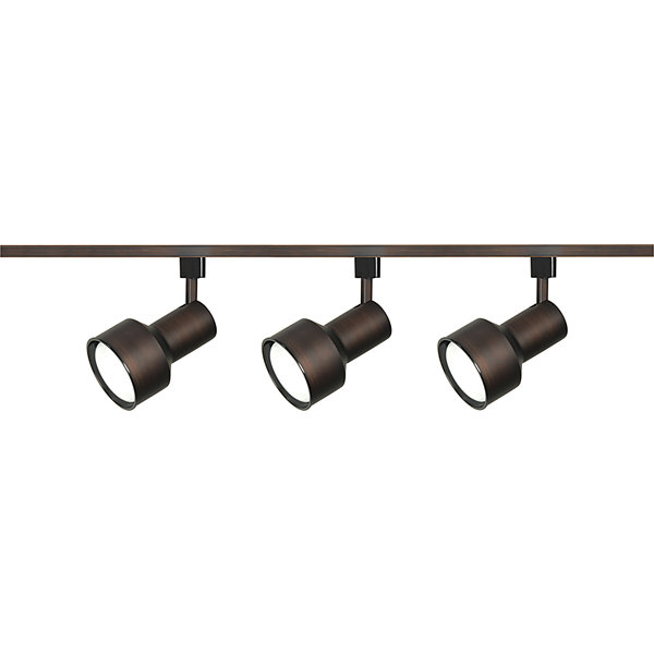 Filament Design 3-Light Russet Bronze Track Lighting Track Kit