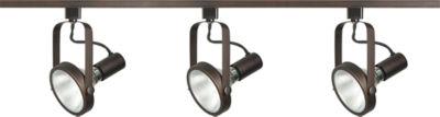 Filament Design 3-Light Russet Bronze Track Lighting Track Kit