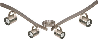 Filament Design 4-Light Brushed Nickel Track Lighting Track Kit