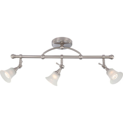 Filament Design 3-Light Brushed Nickel Close-To-Ceiling Fixed Track Bar