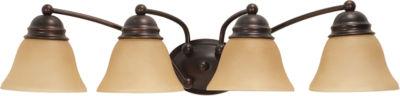 Filament Design 4-Light Mahogany Bronze Bath Vanity