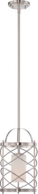 Filament Design 1-Light Brushed Nickel Mini Pendant