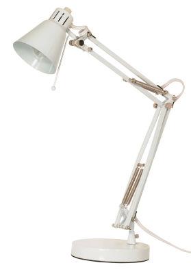 Filament Design 1-Light White Desk Lamp