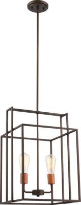 Filament Design 2-Light Bronze With Copper AccentsPendant
