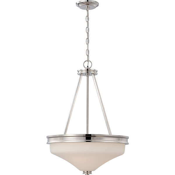 Filament Design 3-Light Polished Nickel Pendant
