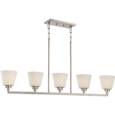 Filament Design 5-Light Brushed Nickel Pendant Island Pendant