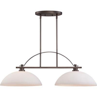 Filament Design 2-Light Hazel Bronze Pendant Island Pendant