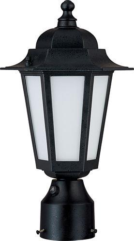 Filament Design 1-Light Textured Black Outdoor Post Light
