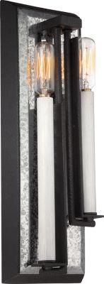 Filament Design 2-Light Textured Black Antique Nickel Bath Vanity
