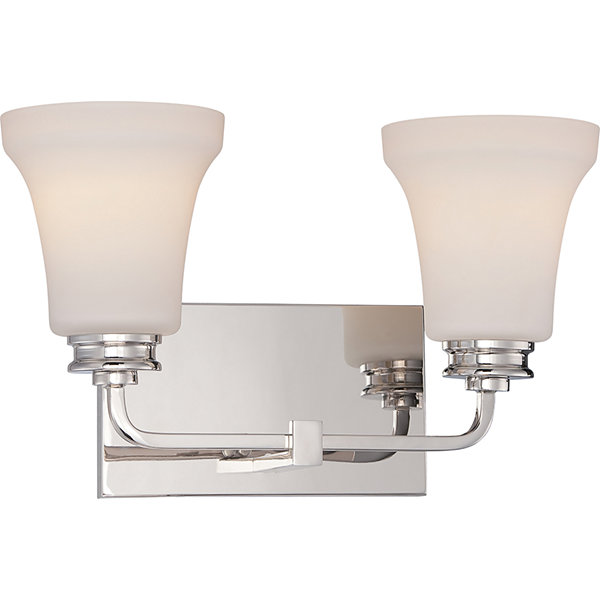 Filament Design 2-Light Polished Nickel Bath Vanity