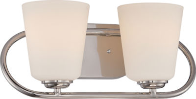 Jcpenney Vanity Lights : Filament Design 2-Light Polished Nickel Bath Vanity - JCPenney